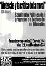 """""""Nietzsche y la critica de la moral"""" Curso 2013-14"""